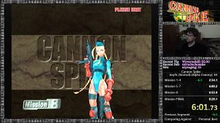 Cannon Spike Any% (Normal) 1CC Speedrun [Alpha Cammy] in 8:17