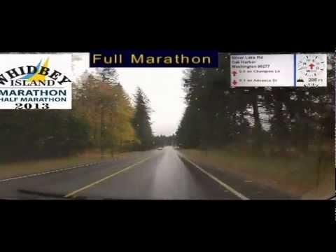 Whidbey Island Marathon Full Marathon Course