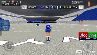 Roblox Football Giants de New York vs Patriots de la Nouvelle-Angleterre