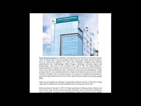 Apollo Spectra Hospital and Dr Jaya M Bhat