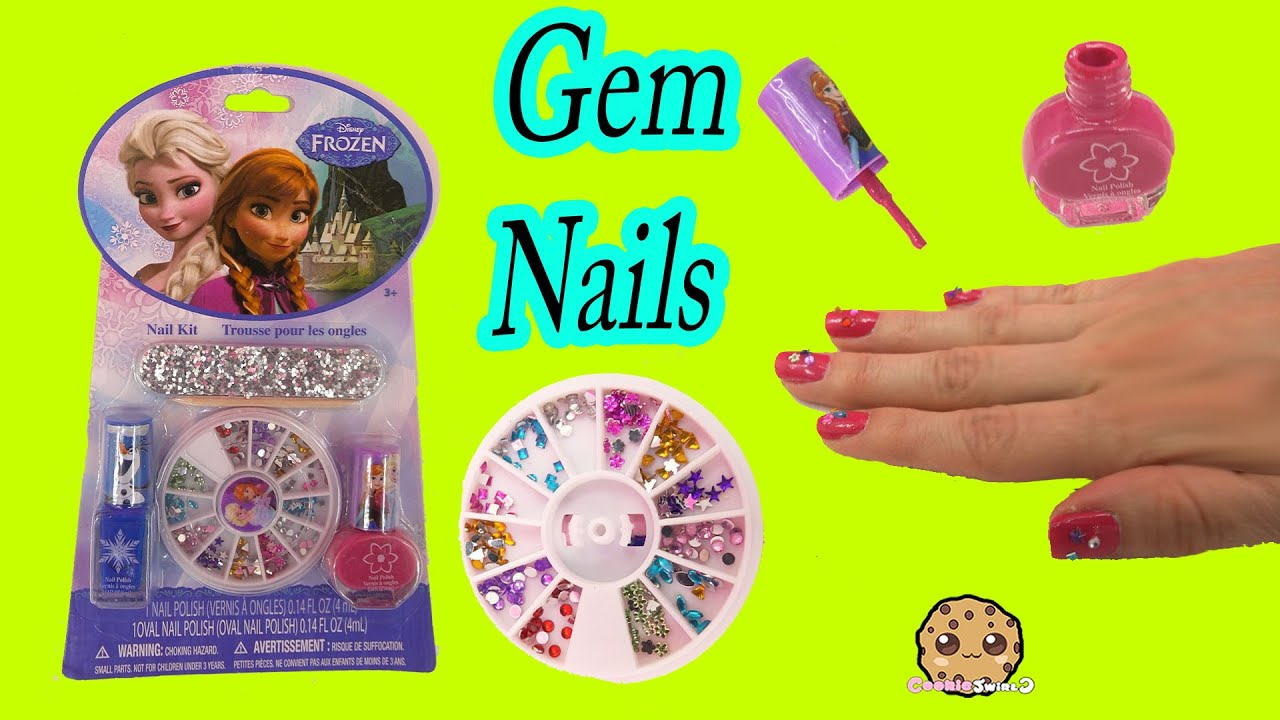 Disney Frozen Queen Elsa Nail Polish Collection Kit Gem Decorating ...