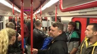 Ride on the subway in Prague, Czech Republic