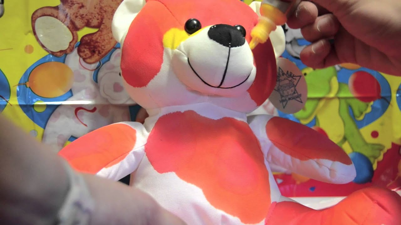 tie dye teddy bear u0027colorburst u0027 workshop youtube
