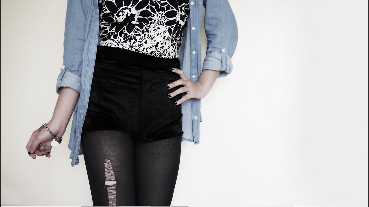 diy velvet high waisted hot pants shorts youtube