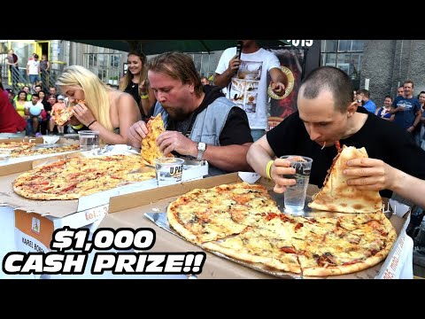 Download $1000 Pizza Eating Contest vs Kate Ovens and Other Top Eaters!!