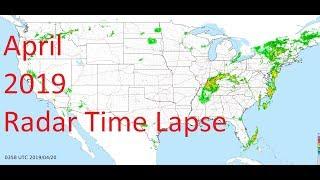 April 2019 US Weather Radar Time Lapse Animation