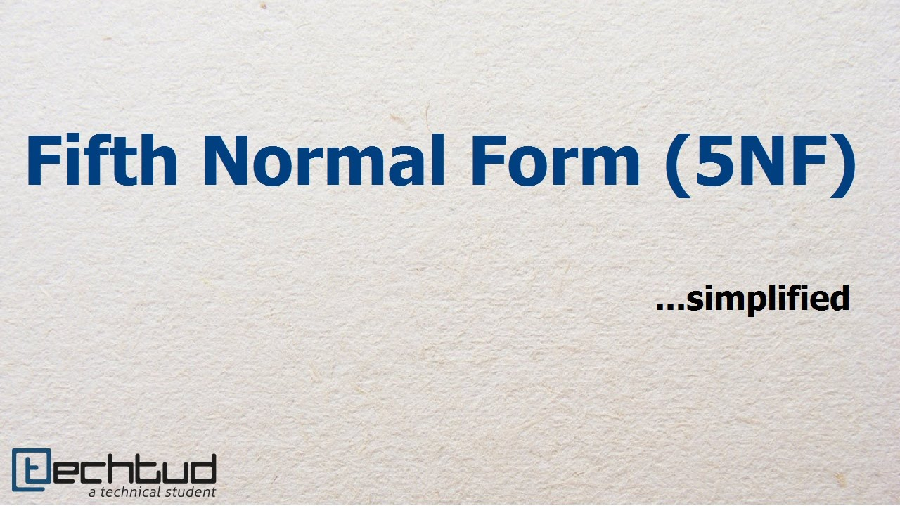 Fifth Normal Form | Database Management System - YouTube