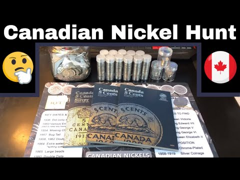 Canadian Nickel Coin Hunt And Collection Fill - Any Rare Coins?