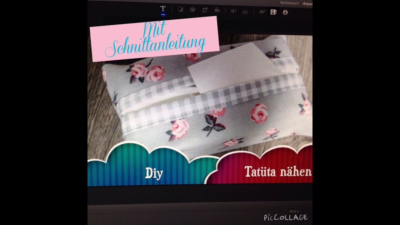 tat ta taschentuchtasche selber n hen diy mit schnittanleitung youtube. Black Bedroom Furniture Sets. Home Design Ideas