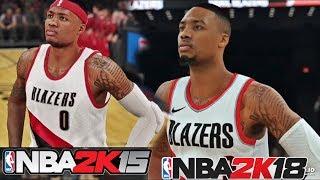 NBA 2K18 Damian Lillard vs NBA 2K15 Damian Lillard | Screen Shots Compairson