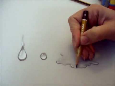 Come Disegnare Goccia D Acqua Corso Di Disegno Draw Drop Youtube