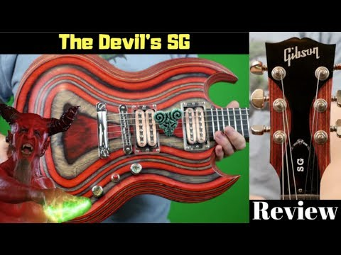The Devil's SG | 2009 Gibson Zoot Suit SG Red and Black Beelzebub Pick of Destiny | Demo