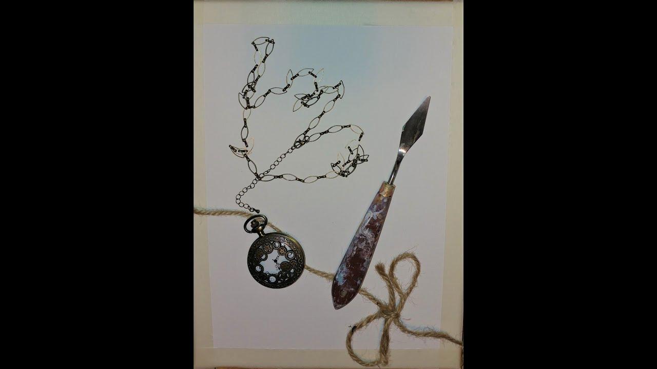 How to Pocket Watch Art | Birthday Pocket Watch Acrylic Painting Canvas #55 | Birthday/Gift Ideas