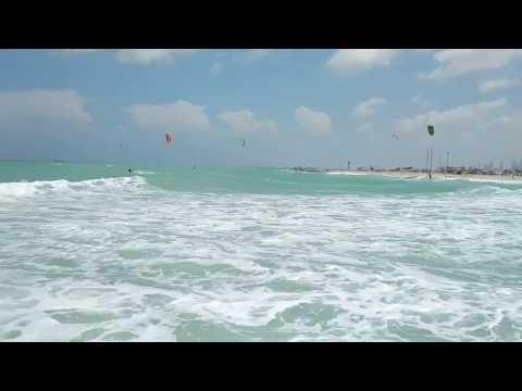 Дубай. пляж Kite Beach. Апрель 2019 года.