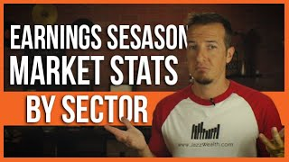 Stock market performance expectations for earnings season by sector.