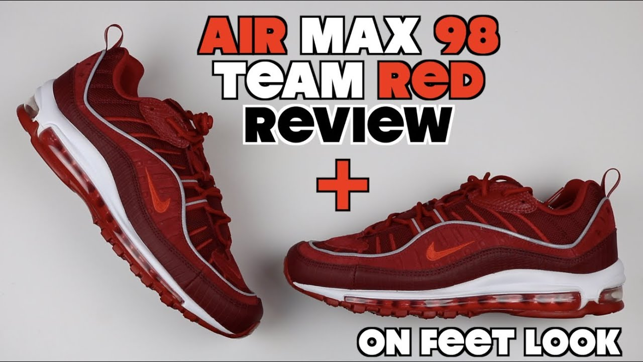 9eb3d843f6f410 Air Max 98 Team Red Short Review