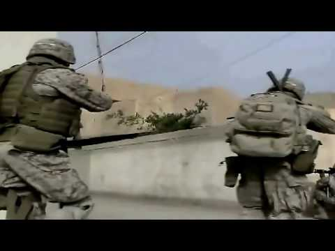 Iraq War - Marines Patrol In Ramadi