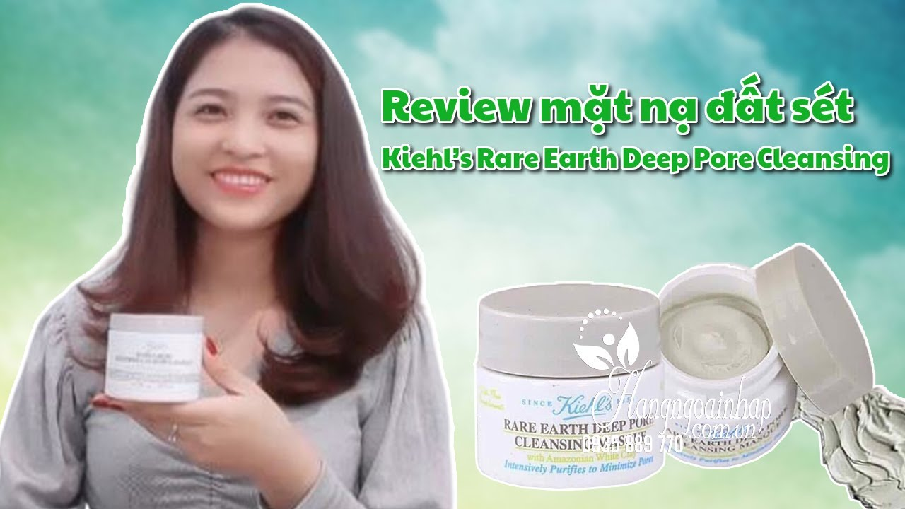 Review mặt nạ đất sét Kiehl's Rare Earth Deep Pore Cleansing
