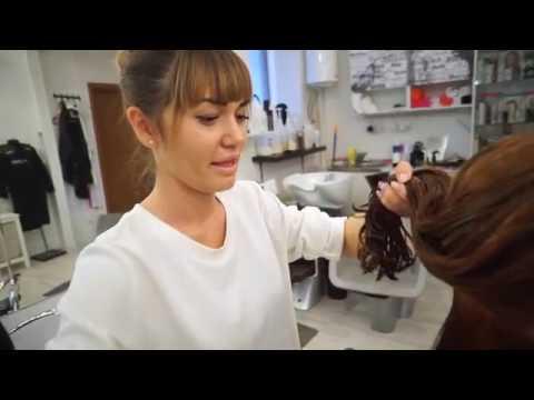 Стрижка на густые вьющиеся волосы