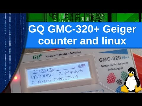 Electronics - The GQ GMC 320+ Geiger Counter And Linux Support