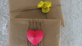 DIY - Rustic gift wrapping