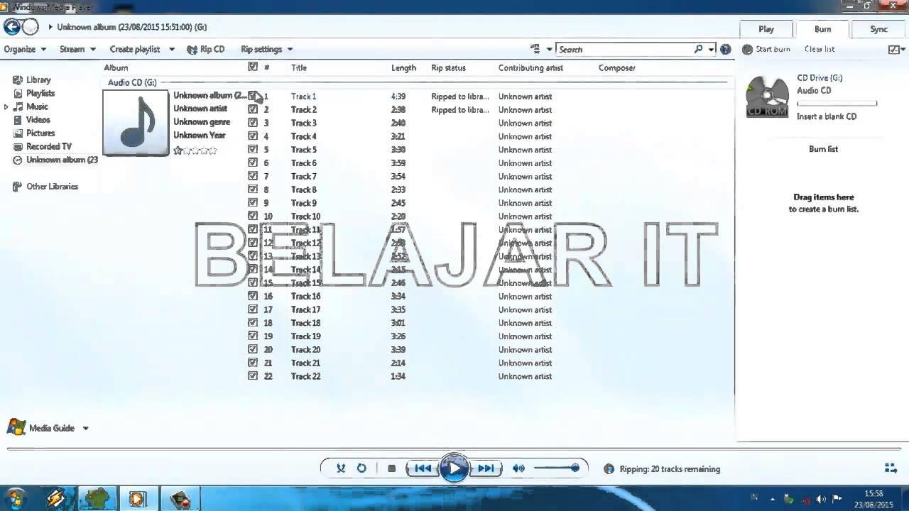 Cara Mudah Convert Audio Cd Ke Mp3 Youtube