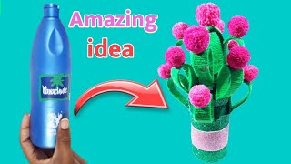 Coconut oil Bottle Craft | Best Out Of Waste | Parachute Oil Bottle Craft | Waste Material Craft