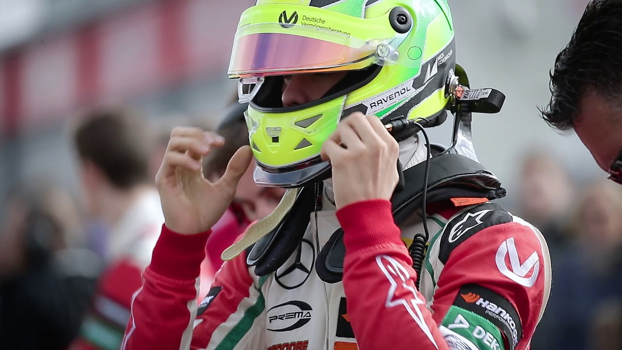 Mick Schumacher Presents His Helmet Youtube