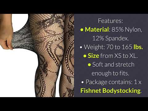 Buitifo Women's Fishnet Bodystocking Plus Size Crotchless Bodysuit Sexy Tights
