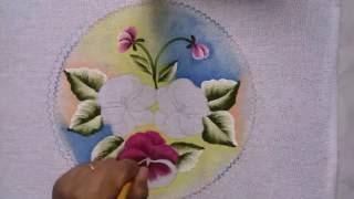 Pintura em tecido iniciante amor perfeito