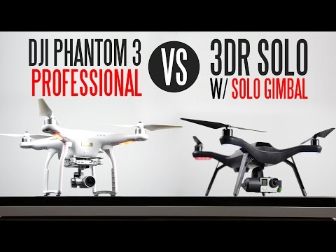 DJI Phantom 3 Professional vs 3DR Solo With Solo Gimbal - Ultimate Drone Comparison