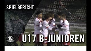 Niendorfer TSV U17 - Hamburger SV U17 (Achtelfinale, Pokal)