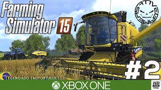 FARMING SIMULATOR 15 #2 VENDENDO TRIGO E CONTRATANDO PESSOAS (Português-BR) 1080P XBOX ONE