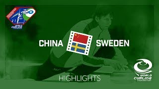 HIGHLIGHTS: China v Sweden - World Mixed Doubles Curling Championship 2018
