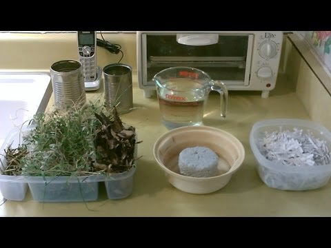 "Homemade ""Briquettes"" - DIY Biofuel for Rocket or Wood Stove! (use leaves/grass/weeds or paper!)"