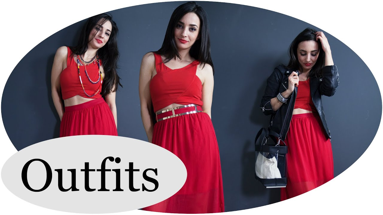 How to wear ICONIC RED // 1 rotes Kleid - 3 Outfit Ideas! #GNTM ...