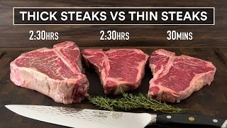 Sous Vide THICK Steaks vs THIN Steaks Experiment!