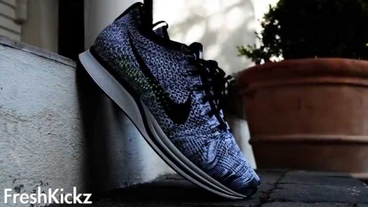 super popular 873e5 cad2e Nike Flyknit 2014 - WHITE   BLACK-VOLT ( On feet + Details) - YouTube