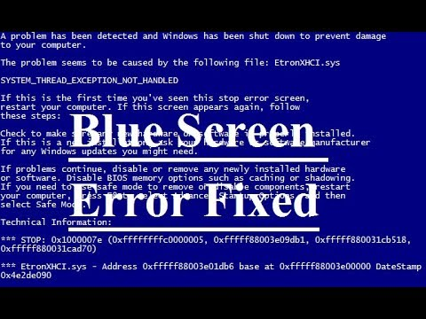 How To Fix Blue Screen Error Windows Xp/7/8 | 100% Working Solution In HINDI/URDU