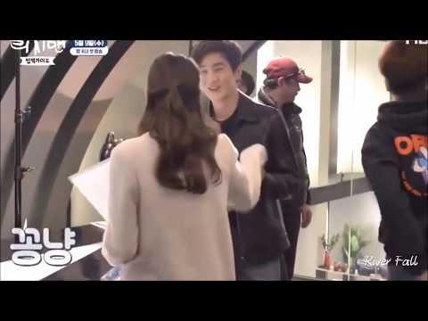 Behind the Scenes Rich Man 2018 - EX0's Suho & Ha Yeon Soo Happy time