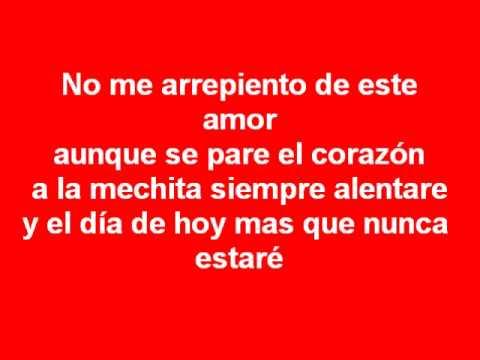 No Me Arrepiento De Este Amor Baron Rojo Sur Canto Nuevo
