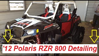 2012 Polaris RZR 800 Detailing!  How to clean and what chemicals to use!