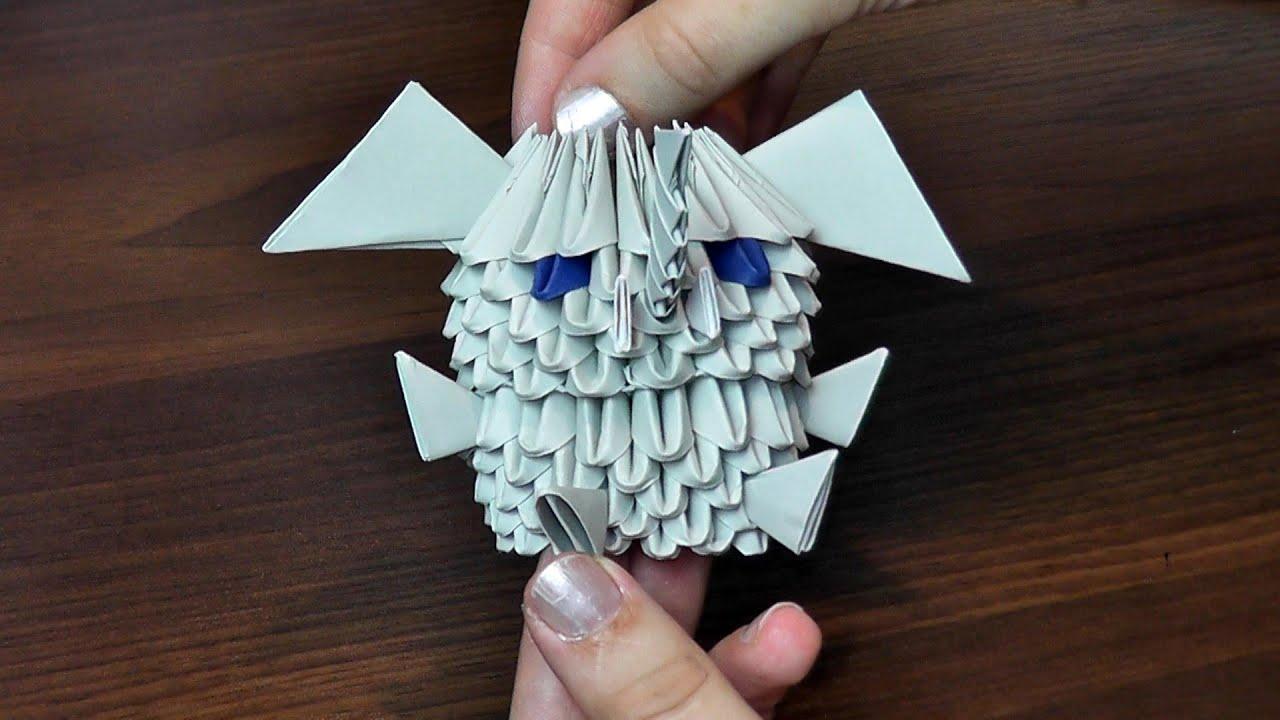 Схема сборки модульного оригами белочка Валентинка от школьника » m - сайт о детях