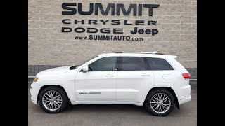 SOLD! 8J114A 2018 USED JEEP GRAND CHEROKEE SUMMIT PLATINUM $46,999 www.SUMMITAUTO.com