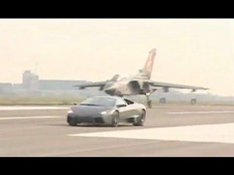 Lamborghini Reventon Vs Jet Plane Youtube