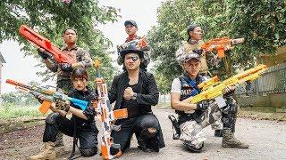 LTT Nerf War : Captain SEAL X Warriors Nerf Guns Fight Dr Lee Group Bandit Hunter