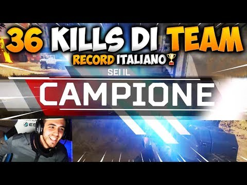 36 KILLS DI TEAM SU APEX LEGENDS...NUOVO RECORD ITALIANO?