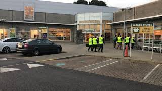 Beef Plan Movement members enter Dunnes Stores in Roscommon Town