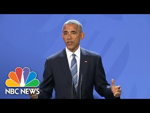 President Obama: With Russia, Donald Trump Cannot Set Aside International Norms | NBC News