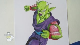 How to draw Piccolo from Dragon Ball ピッコロ・ジュニア